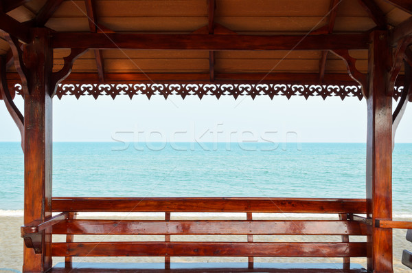 Pavilion rests at the seaside Stock photo © Yongkiet