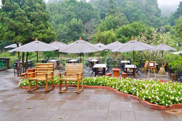 Seating area of the restaurant in the morning. Stock photo © Yongkiet