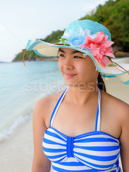 Girl on the beach at Similan Island, Thailand Stock photo © Yongkiet