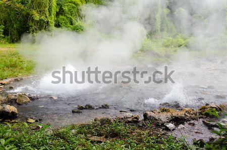 ストックフォト: 春 · 当然 · お湯 · 自然 · 水 · 山