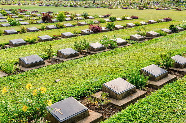 Kanchanaburi War Cemetery (Don Rak) Stock photo © Yongkiet