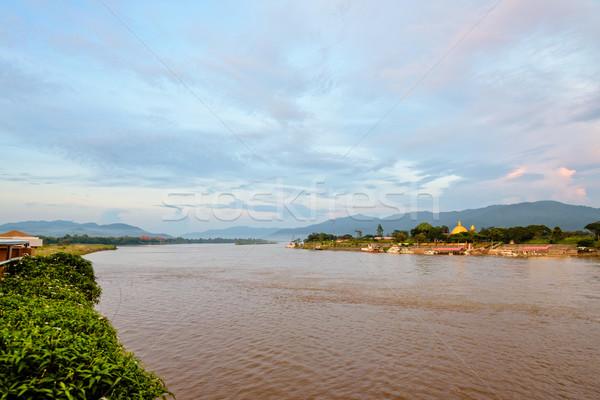 Arany háromszög park természetes tájkép folyó Stock fotó © Yongkiet