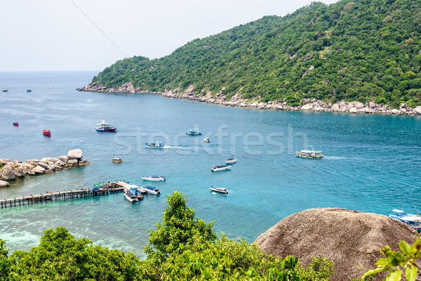 Sea at Tao and Nang Yuan island Stock photo © Yongkiet