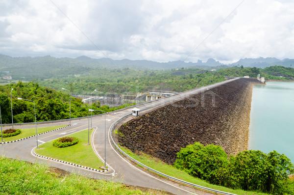 Viewpoint at Ratchaprapha Dam Stock photo © Yongkiet