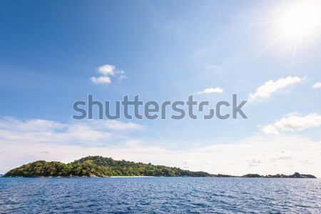 Blue sky and sea at Koh Miang Thailand Stock photo © Yongkiet