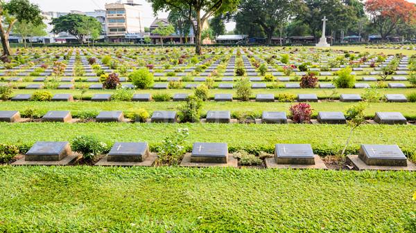 Kanchanaburi War Cemetery (Don Rak) Stock photo © Yongkiet