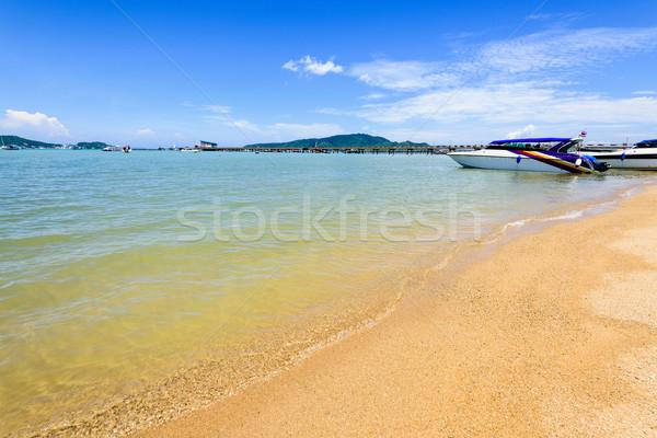 Beach harbor area at Ao Chalong Bay in Phuket, Thailand Stock photo © Yongkiet