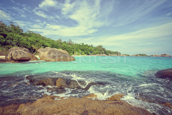 Vintage stylu lata morza Tajlandia piękna Zdjęcia stock © Yongkiet