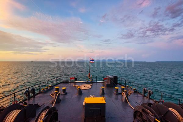 Сток-фото: лодка · океана · большой · красивой · природы · вечер
