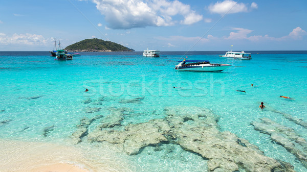 Beautiful beach at Koh Miang in Mu Koh Similan, Thailand Stock photo © Yongkiet