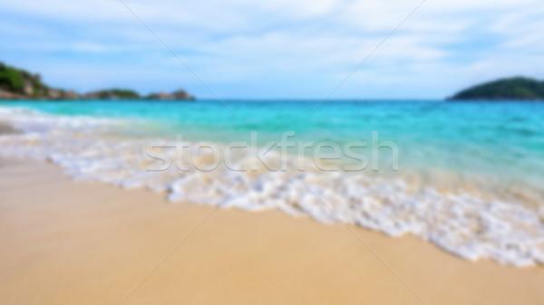 Elmosódott tenger tengerpart sziget Thaiföld fénykép Stock fotó © Yongkiet