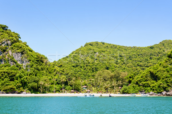 Front of Ko Wua Talap island Stock photo © Yongkiet