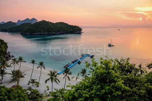 Zonsopgang strand Thailand mooie Stockfoto © Yongkiet