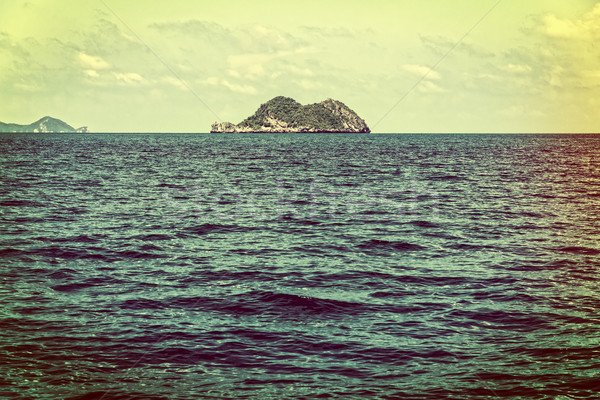 Small island in vintage style Stock photo © Yongkiet