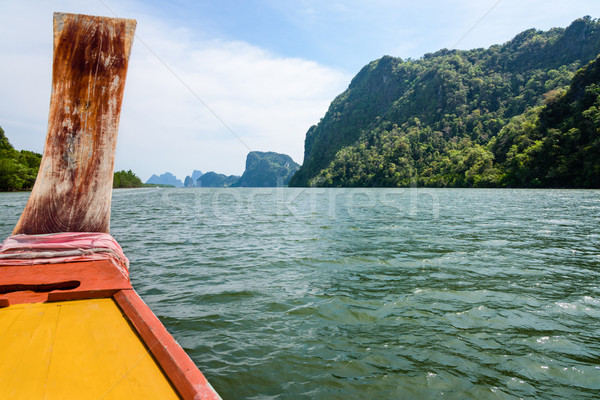 Travel by boat in Phang Nga Bay Stock photo © Yongkiet