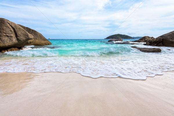 Stockfoto: Zomer · strand · Thailand · mooie · natuur · Blauw