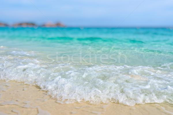 Blur strand zomer Thailand zachte effect Stockfoto © Yongkiet
