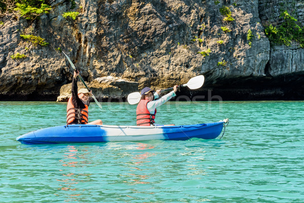 Travel by boat with a kayak Stock photo © Yongkiet