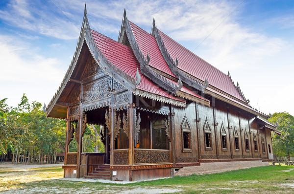Chapel of Thai temple Stock photo © Yongkiet