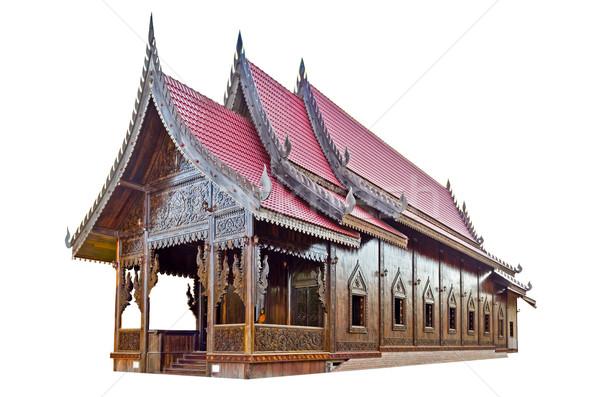 Chapelle thai temple blanche Palm Photo stock © Yongkiet