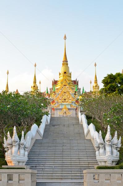 Scale pagoda bella noto montagna Foto d'archivio © Yongkiet