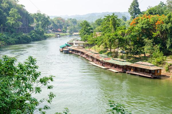 Rio morte ferrovia ponte belo paisagem Foto stock © Yongkiet