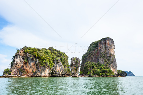 Landscape KhaoTapu or James Bond Island Stock photo © Yongkiet