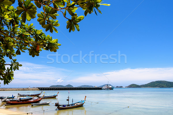 Deniz köprü iskele phuket Tayland güzel Stok fotoğraf © Yongkiet