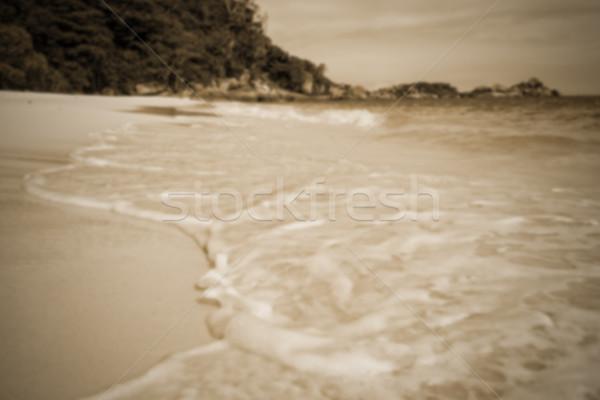 Elmosódott tengerpart szépia szín sziget Thaiföld Stock fotó © Yongkiet