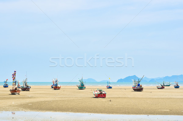 Ship aground on the beach Stock photo © Yongkiet