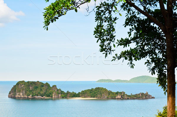 High viewpoint Ko Maphrao island in the ocean Stock photo © Yongkiet