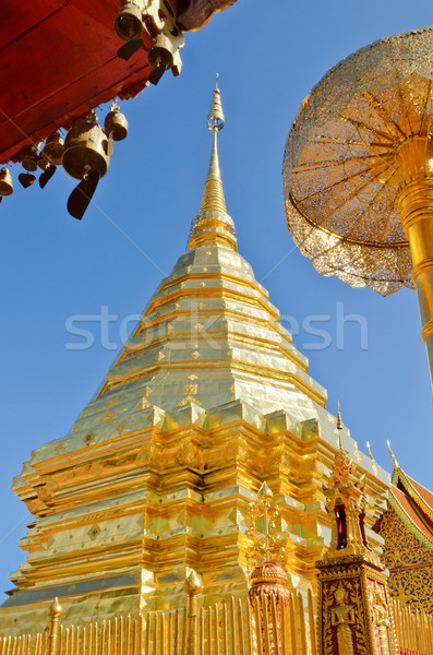Wat Phra That Doi Suthep tourism attractions of Thailand Stock photo © Yongkiet