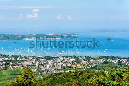 Görmek güzel manzara şehir deniz Stok fotoğraf © Yongkiet