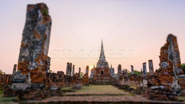Thailandia antica rovine pagoda vecchio tempio Foto d'archivio © Yongkiet