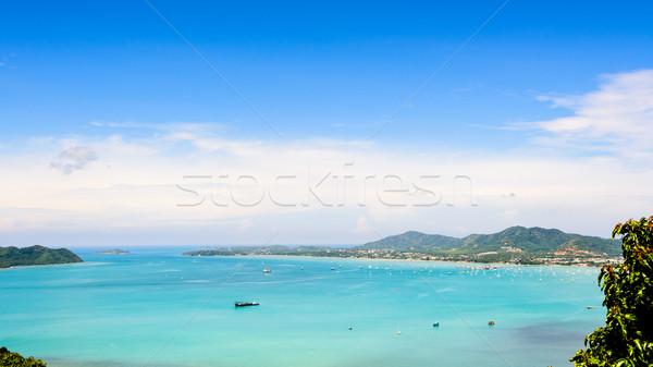 Görmek mavi gökyüzü deniz phuket Tayland Stok fotoğraf © Yongkiet