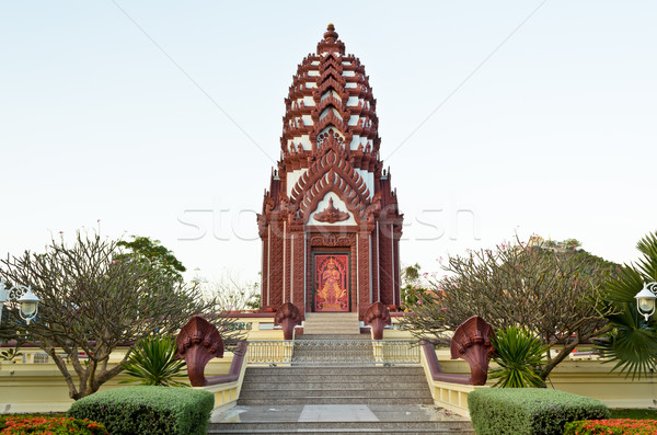 Arts architecture Thaïlande ville colonne Photo stock © Yongkiet