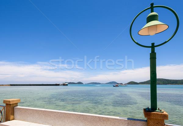 Lamp at sea viewpoint in Panwa Cape, Phuket, Thailand Stock photo © Yongkiet