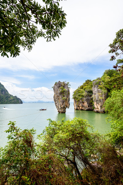 High angle view Khao Tapu island Stock photo © Yongkiet