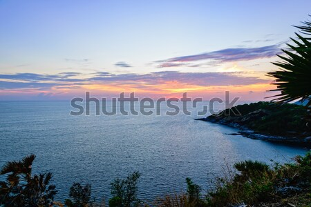 Sunset over the Andaman Sea Stock photo © Yongkiet