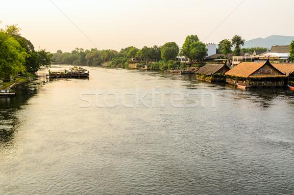 Stock fotó: Folyó · magasról · fotózva · kilátás · híd · gyönyörű · tájkép