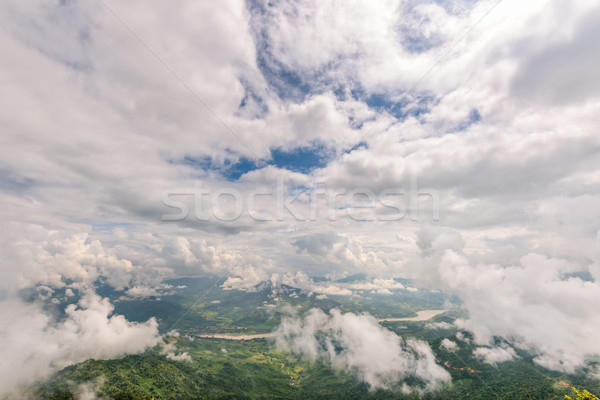 High angle view natural landscape Stock photo © Yongkiet