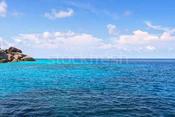 Küçük ada mavi deniz güzel manzara Stok fotoğraf © Yongkiet
