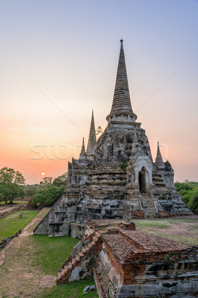 Tailandia ruinas pagoda antigua arquitectura edad Foto stock © Yongkiet