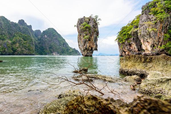 Landscape Khao Tapu or James Bond Island Stock photo © Yongkiet