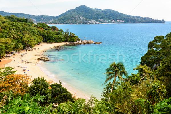 Plaj şarkı söylemek phuket ada yüksek manzaralı Stok fotoğraf © Yongkiet