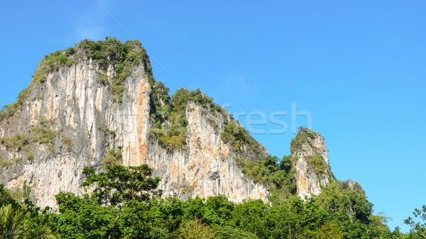 élevé exotique calcaire montagne ciel Photo stock © Yongkiet