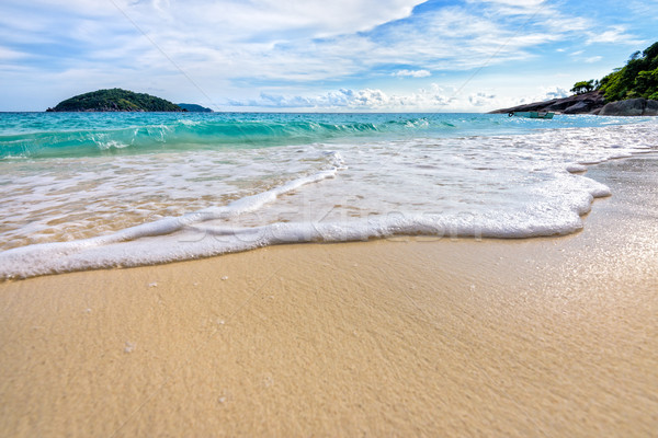 Beach and waves at Similan National Park in Thailand Stock photo © Yongkiet