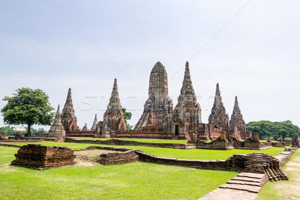 Oude tempel beroemd toeristische attractie religieuze Stockfoto © Yongkiet