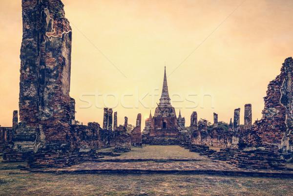 Vintage Tailandia estilo textura efecto antigua Foto stock © Yongkiet