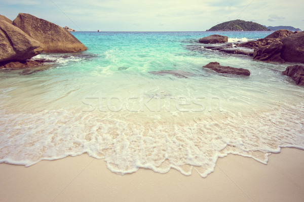 Vintage style sea and beach in Thailand Stock photo © Yongkiet